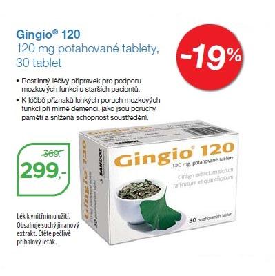 Gingio 120 mg pro lepší paměť