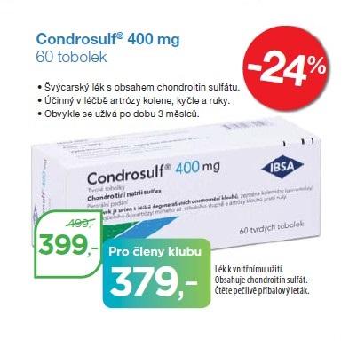 Condrosulf 400 mg s obsahem účinné látky chondroitin