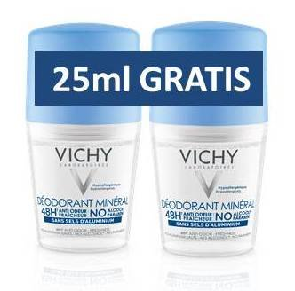 Vichy deo roll-on bez alum.soli duo pack